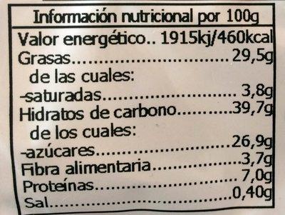 Magdalenas ecológicas de espelta - Información nutricional - es