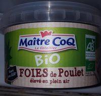 foies de poulet fermier bio - Produit