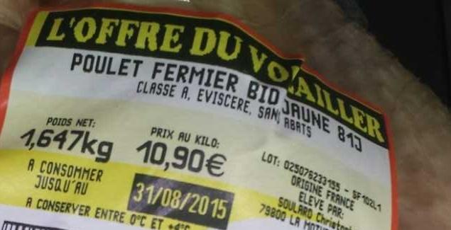 Poulet Fermier Jaune Bio - Ingredients