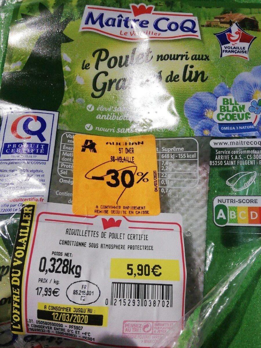 Aiguillette de poulet certifié - Prodotto - fr