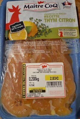 Aiguillettes de poulet recette thym citron - Product - fr