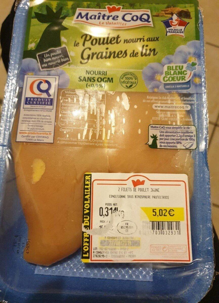 Filets de poulet jaune - Product