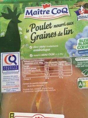 Poulet nourri aux graines - Produit