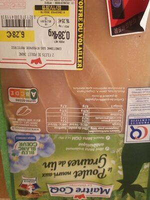 Poulet nourri aux graines de lin - Product - fr