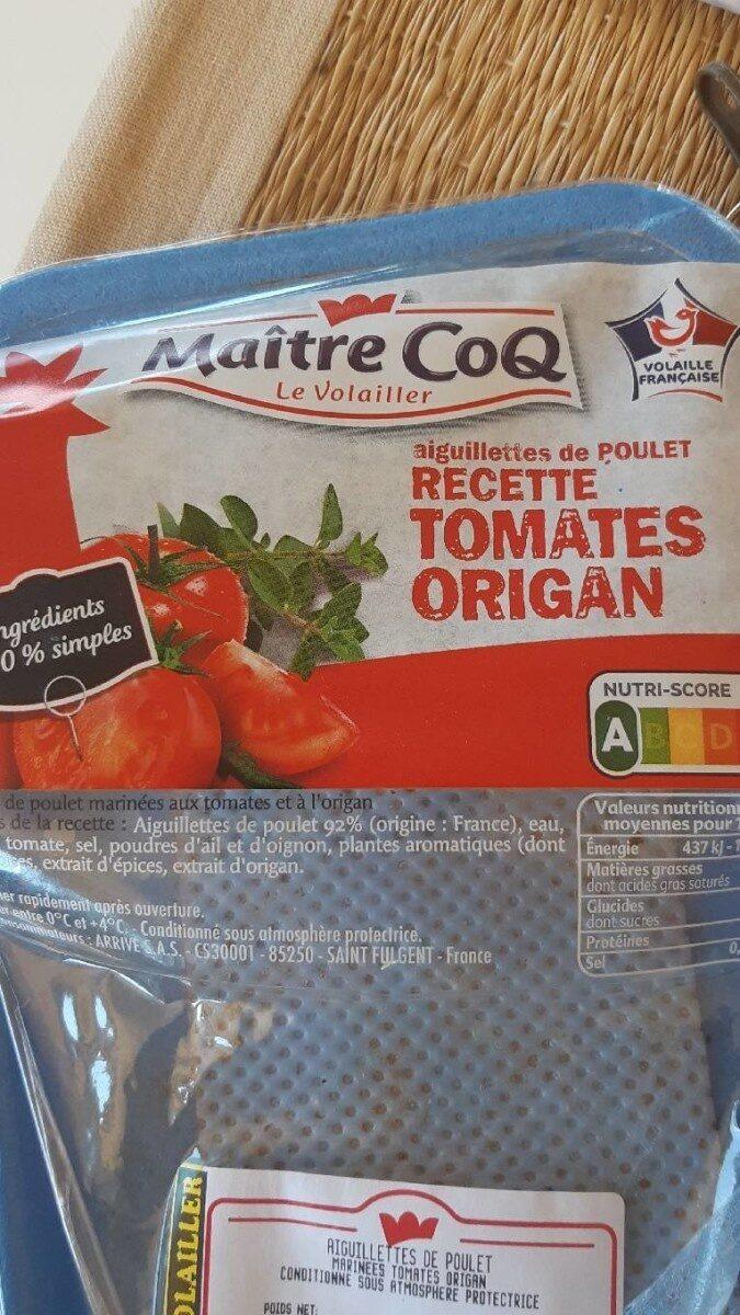 Aiguillettes de poulet recette tomates origan - Prodotto - fr