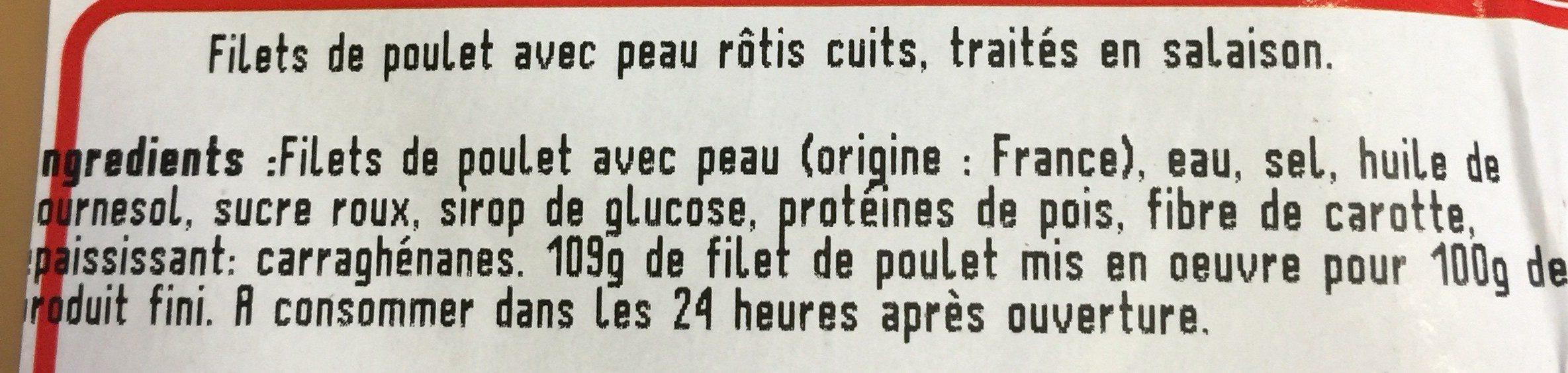 2 filets de poulet roties - Ingrédients