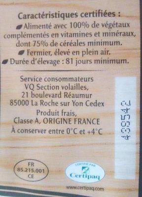 Jaune poulet fermier de ma Campagne - Ingredients - fr