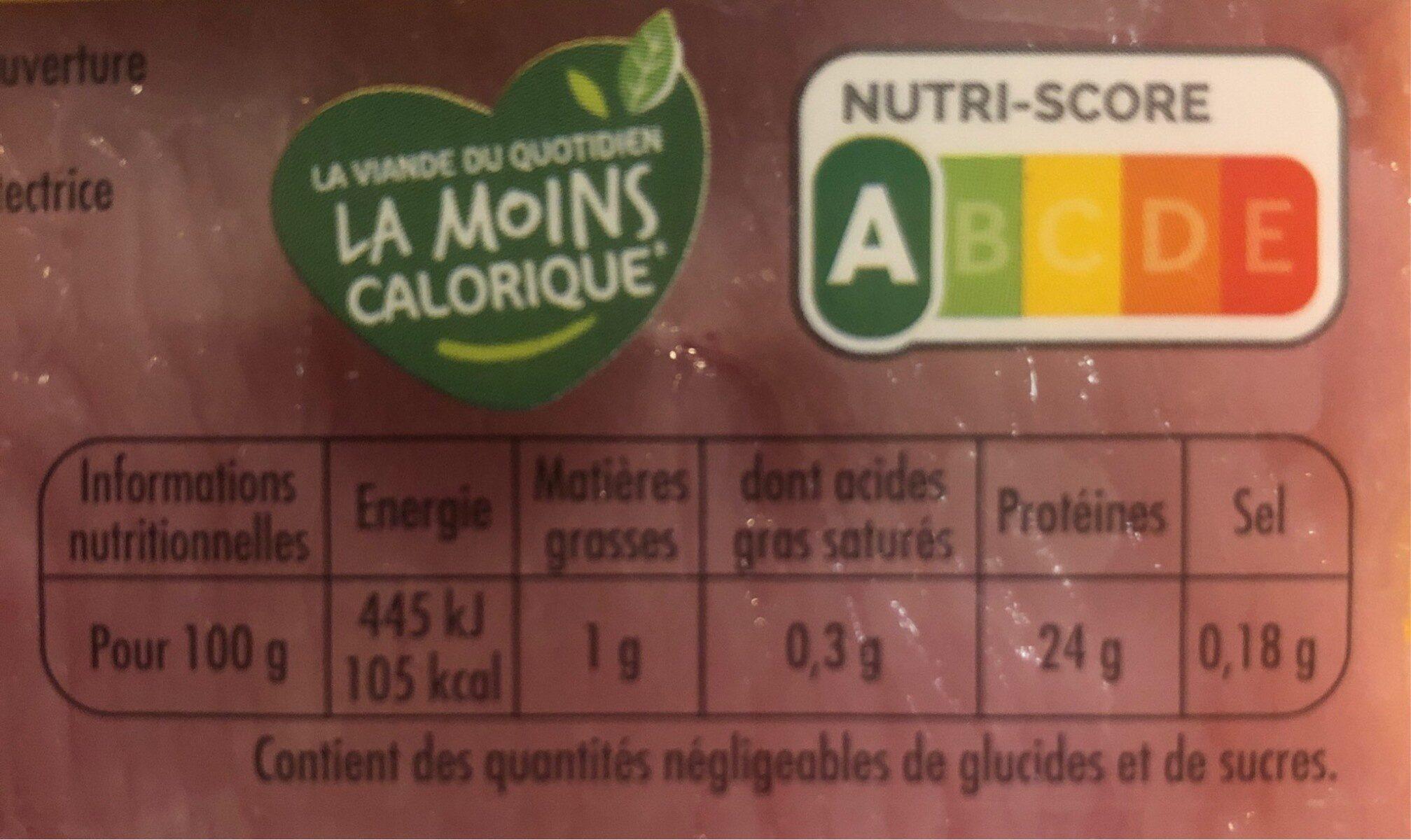 2 Escalopes de dinde extra-fine - Informations nutritionnelles