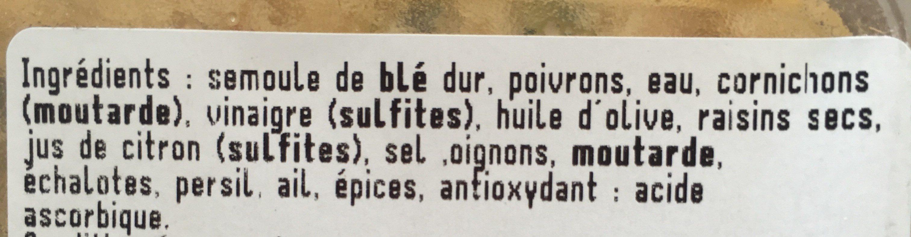Taboulé - Ingrédients