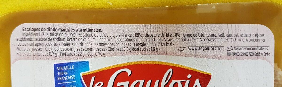 Les milanaises - Ingrediënten - fr