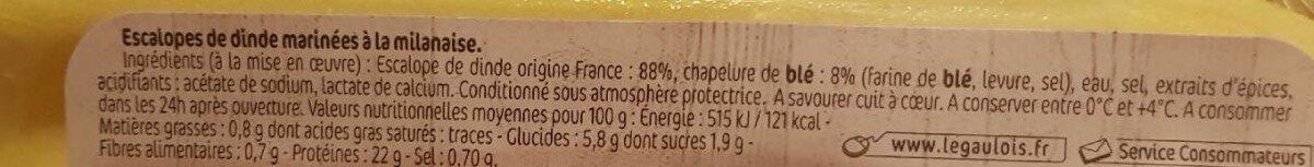 Les milanaises chapelure nature - Ingrediënten