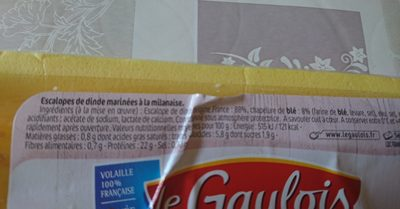 Escalope milanaise - Ingrédients