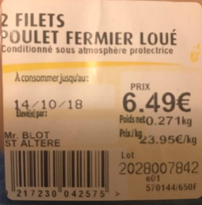Poulet fermier - Ingredients - fr