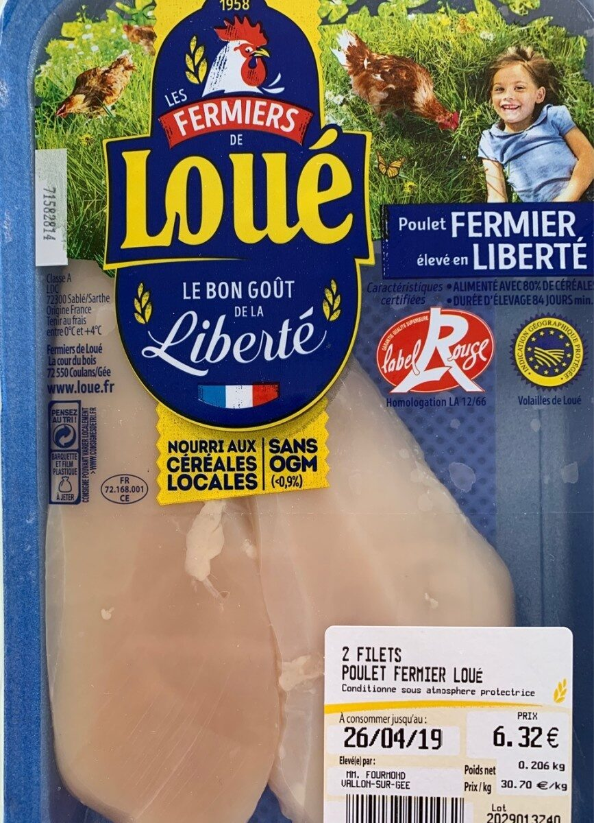 2 Filets poulet fermier - Ingredients - fr