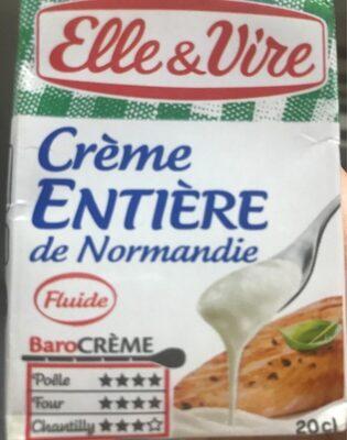 Crème entière de Normandie - Product - fr