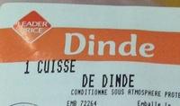 1 Cuisse de Dinde - Ingrédients - fr