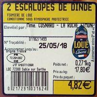 Escalopes de dinde - Ingredients - fr