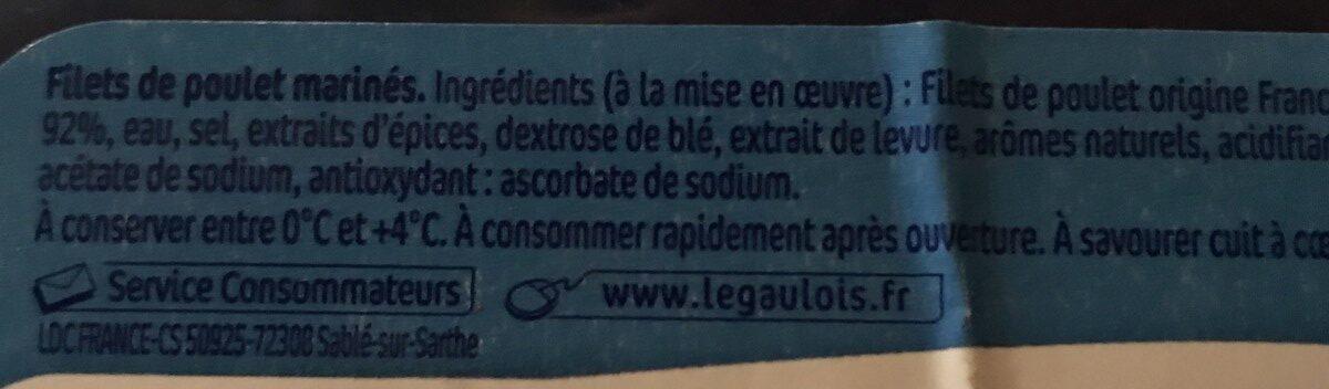 Filets de poulet extra tendre - Ingrédients - fr