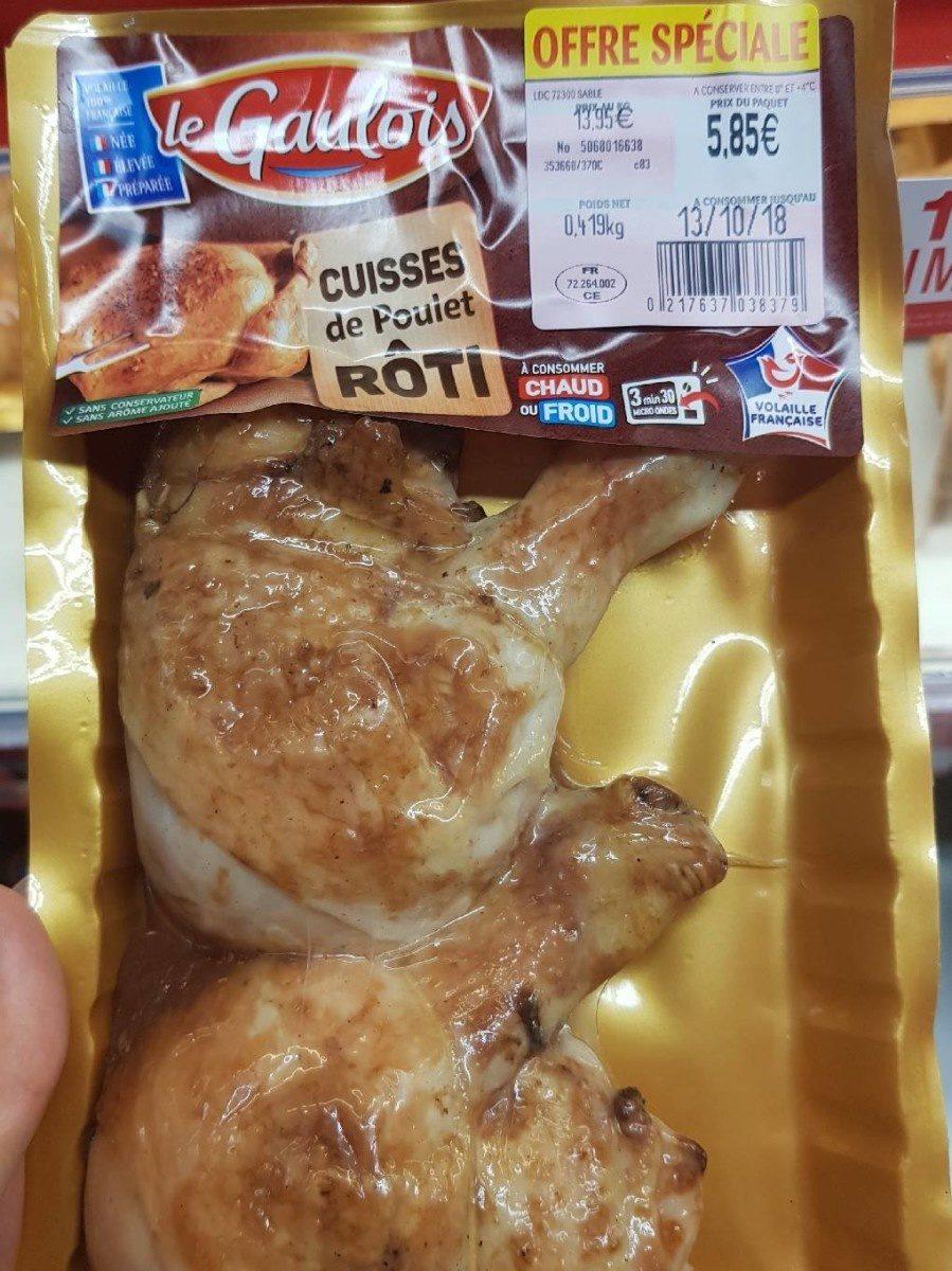 Cuisses de poulet roti - Produit