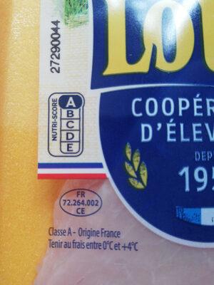 Escalopes fines de dinde fermière de Loué - Nutrition facts - fr