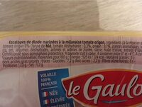 Les Milanaises - Informations nutritionnelles - fr