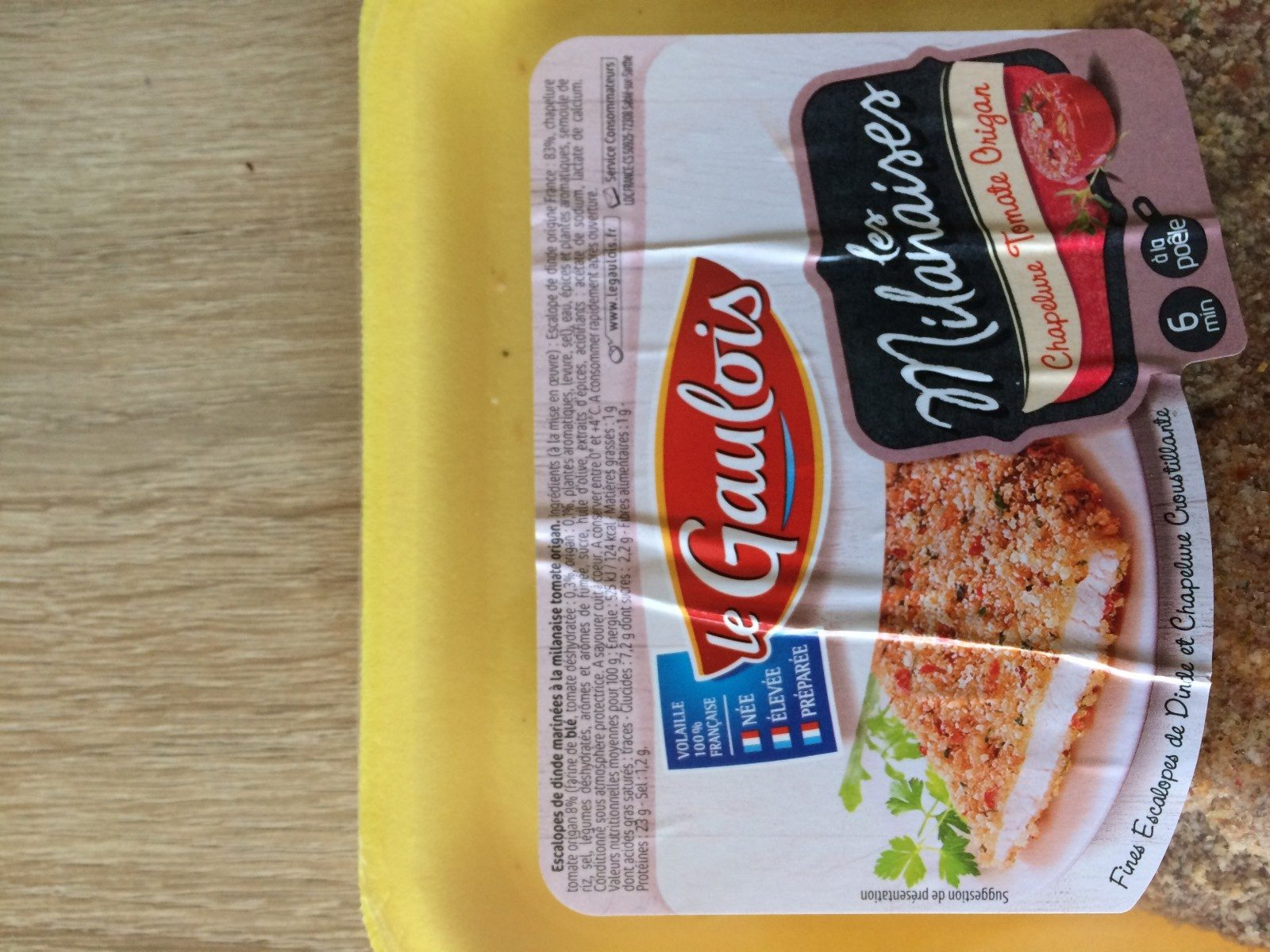 Les milanaises chapelure tomate origan - Ingrediënten