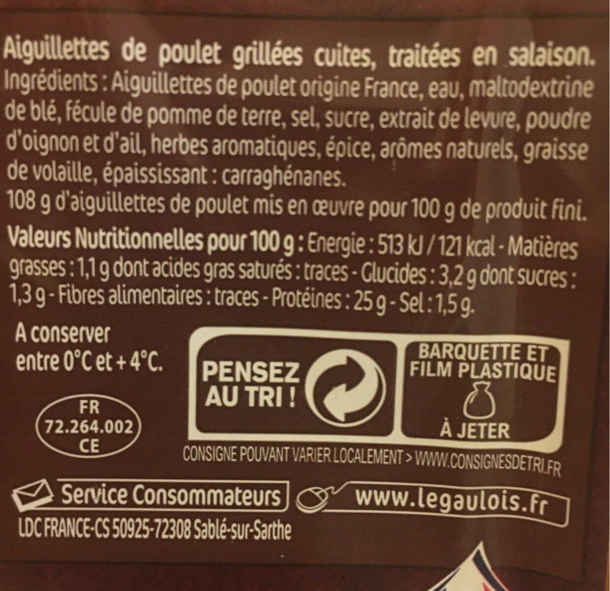 Aiguillettes de poulet Grillé - Valori nutrizionali - fr