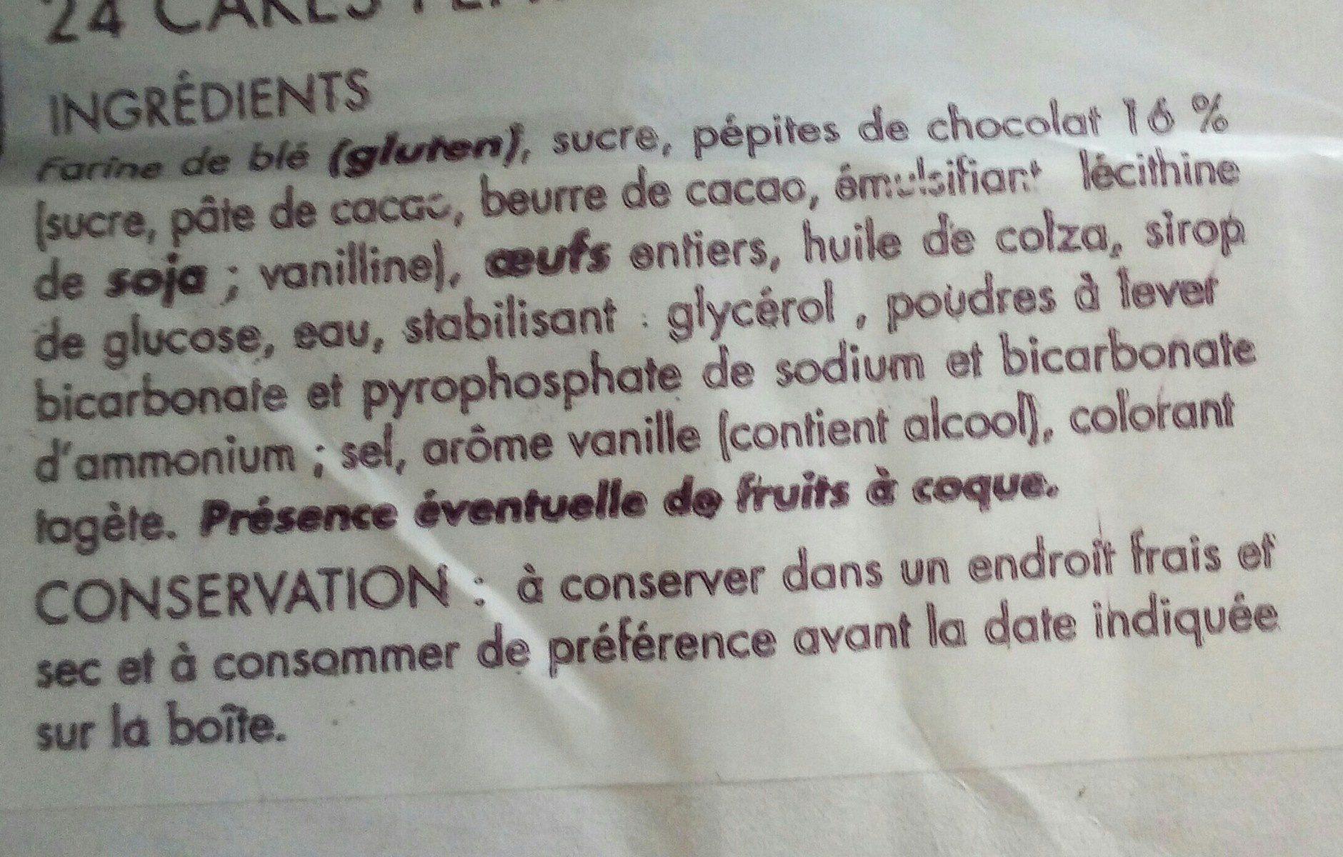 Cake pepites chocolat - Ingrediënten - fr