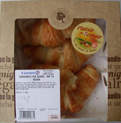 Croissants Pur Beurre AOP x4 Bridor - Product
