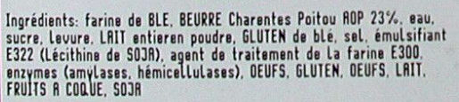 Croissants Pur Beurre AOP x4 Bridor - Ingrediënten
