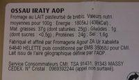 Ossau Iraty AOP du pays basque - Ingrédients