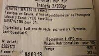 Beaufort aop - Ingrediënten - fr