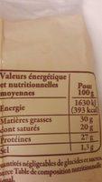 Beaufort aop - Voedingswaarden - fr