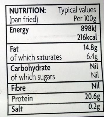 28 days matured Beef Sirloin Steak - Nutrition facts