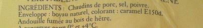 Véritable Andouille de Guémené fumé au bois de hêtre - Ingrédients - fr