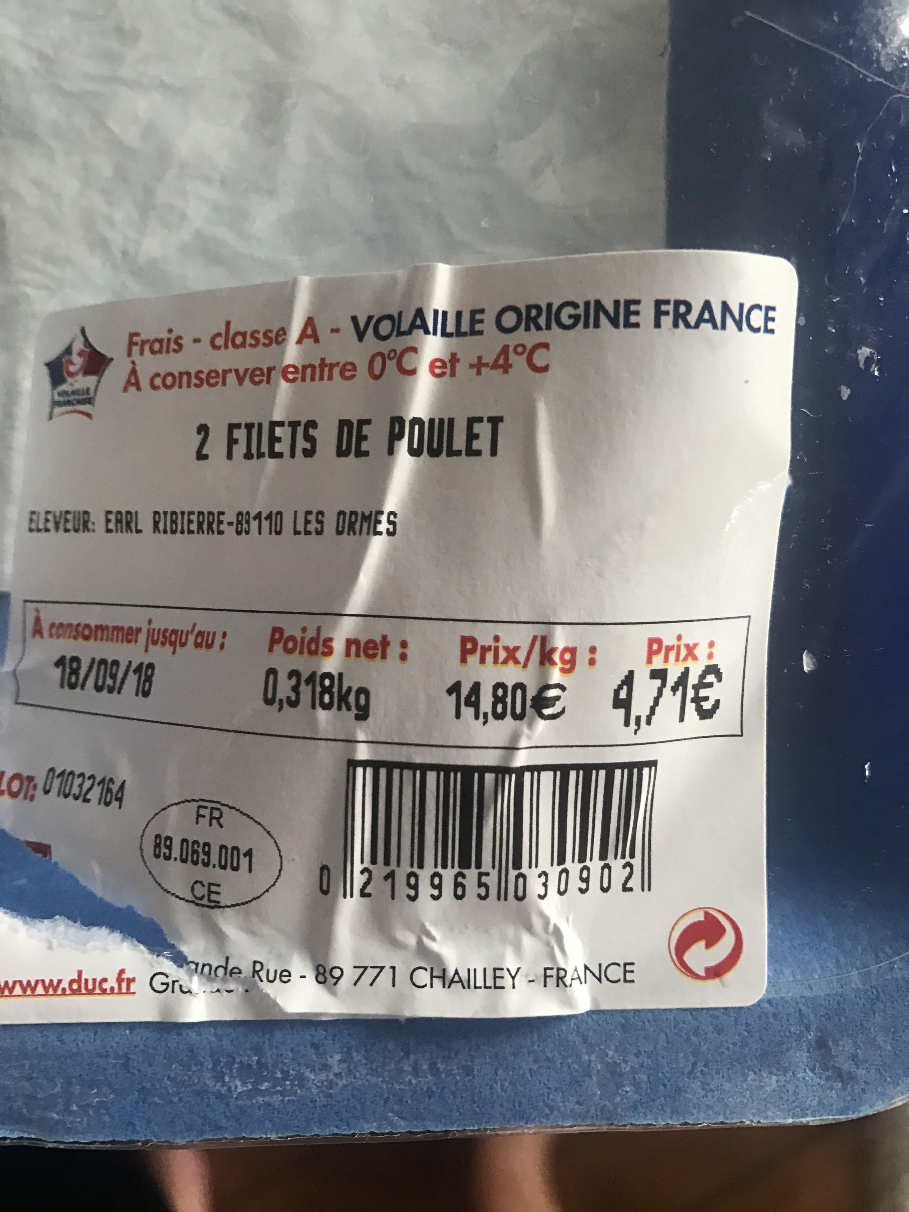 Filets de poulet - Produit - fr