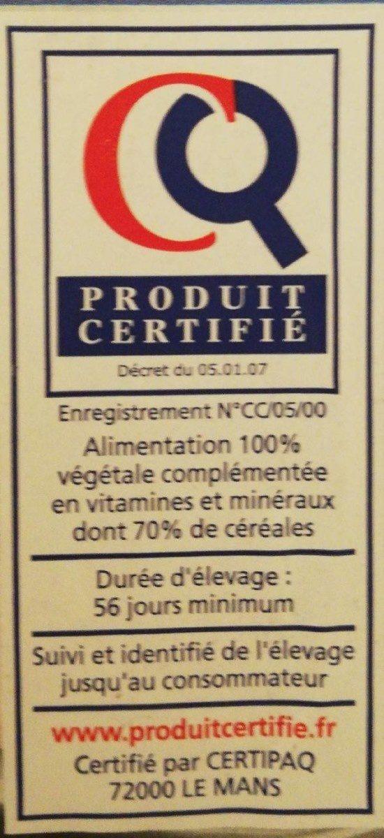 Filets de poulet - Ingrédients - fr