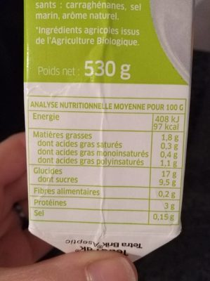 2 cuisses de poulet - Nutrition facts