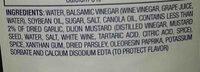 Kraft balsamic dressing - Ingredients - en