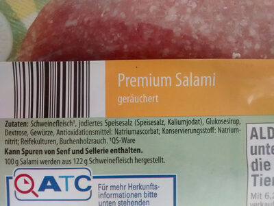 Premium Salami - Ingrediënten - de