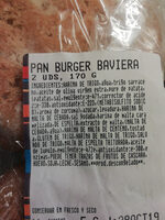 Pan Burger Baviera - Ingredients
