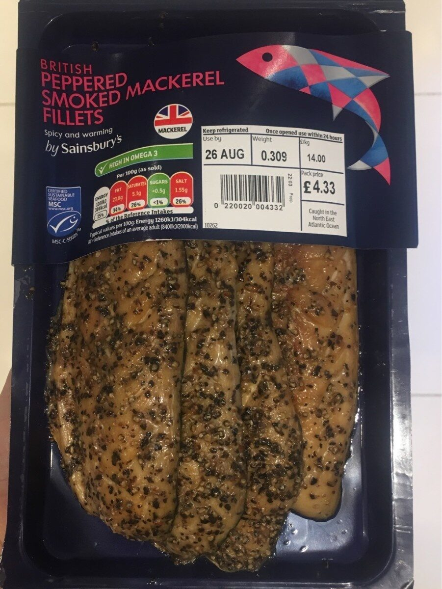 Peppered smoked mackerel - Product