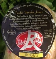 Poulet Fermier Jaune - Ingredients - fr
