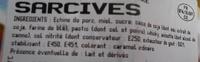 Sarcives - Ingrédients - fr