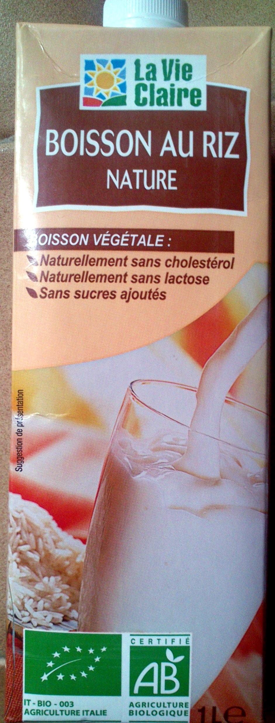 Boisson au riz nature La Vie Claire - Product - fr
