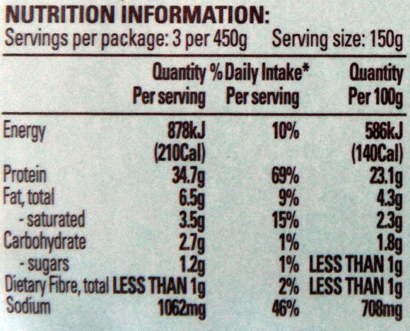 Beef Blade Roast with Roast Beef Seasoning - Nutrition facts