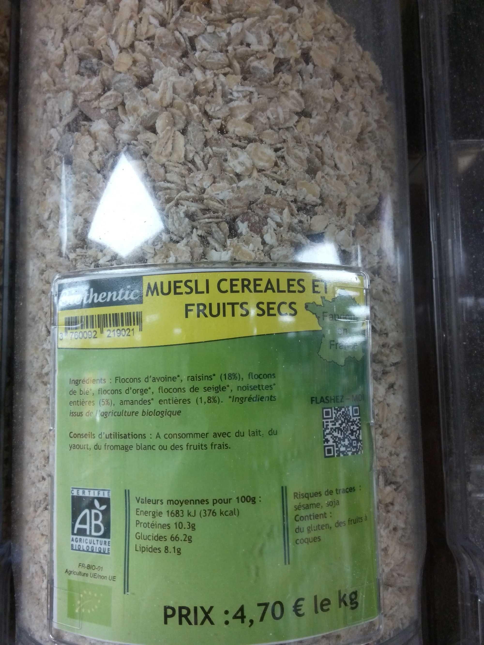 Muesli céréales et fruits secs - Produit