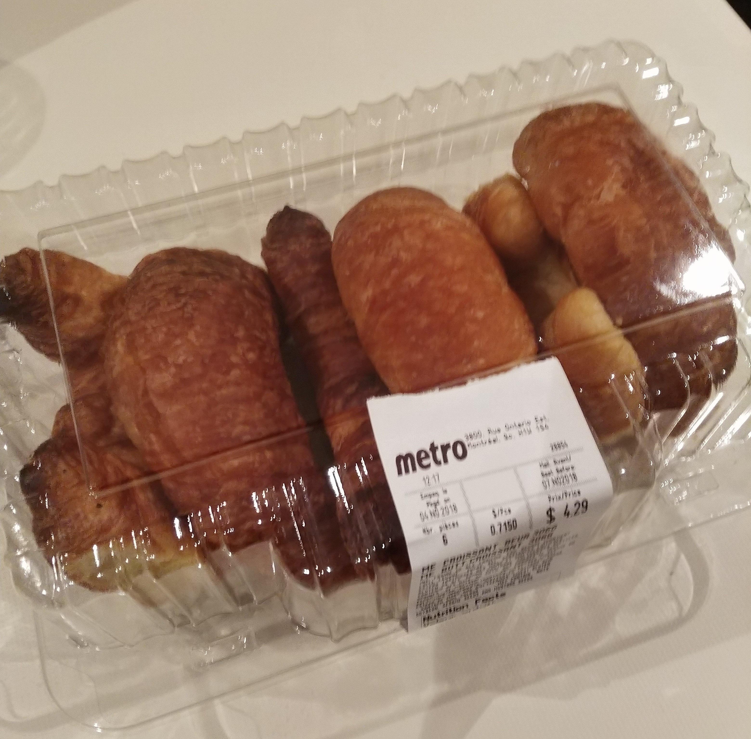 Croissants au beurre. - Produit - fr