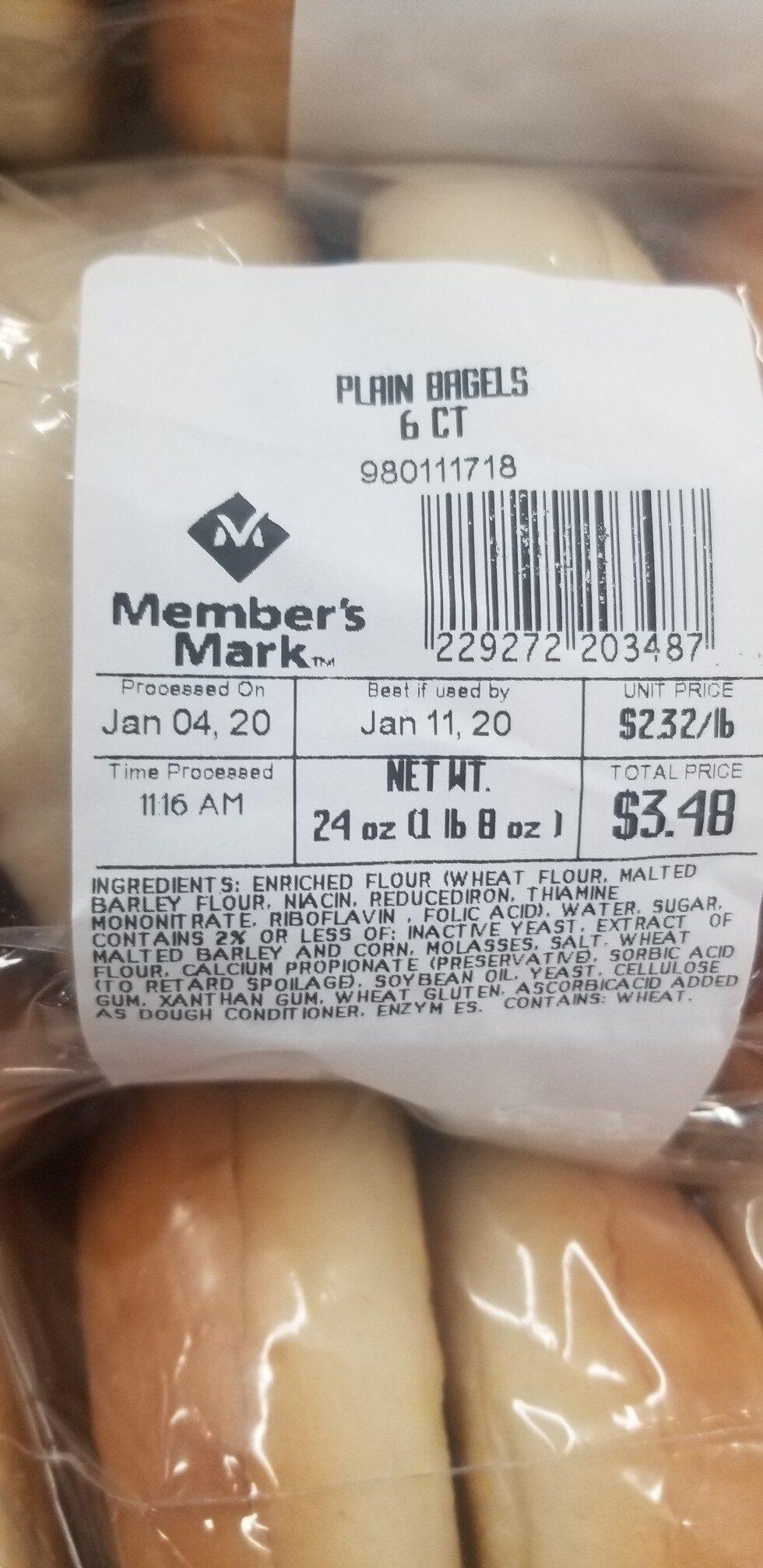 bagel - Ingrédients - en