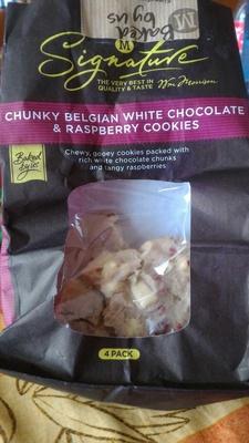 CHUNKY BELGIAN WHITE CHOCOLATE & RASPBERRY COOKIES